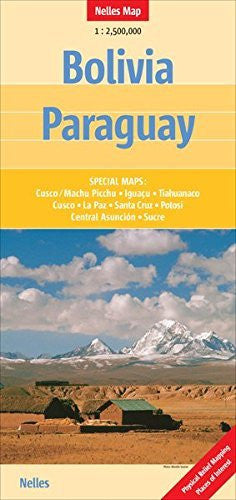 Bolivia and Paraguay Nelles map (English, French, Italian and German Edition)