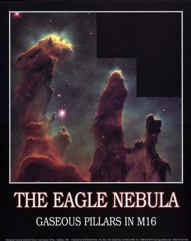 The Eagle Nebula: Gaseous Pillars in M16