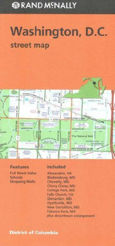 Washington D.C. Street Map (Orange Cover)