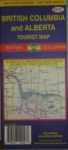 British Columbia/Alberta Tourist Map