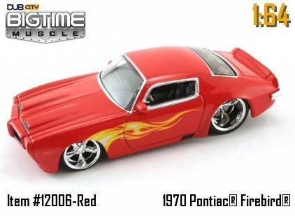 Jada Dub City Big Time Muscle Red 1970 Pontiac Firebird 1:64 Scale Die Cast Car - Wide World Maps & MORE! - Toy - Big Time Muscle - Wide World Maps & MORE!