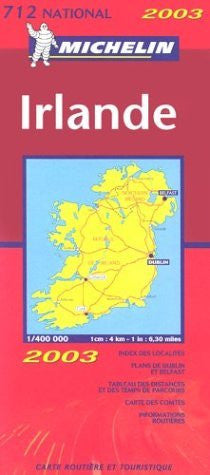 Michelin Ireland Map No. 712(923) - Wide World Maps & MORE! - Book - Wide World Maps & MORE! - Wide World Maps & MORE!
