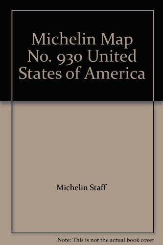 Michelin Map No. 930 United States of America