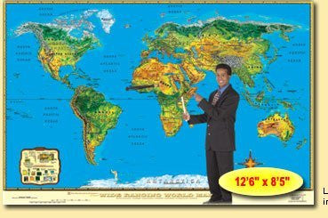 us topo - Wide Ranging World Map--Large Size - Wide World Maps & MORE! - Book - Wide World Maps & MORE! - Wide World Maps & MORE!