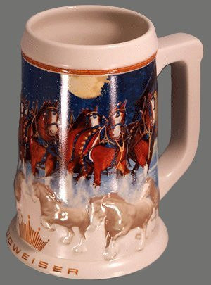 us topo - Anheuser-Busch Budweiser Holiday Stein Series - 2005 Running Free - Clydesdales Pulling The Holiday Beer Wagon - Wide World Maps & MORE! - Kitchen - Unknown - Wide World Maps & MORE!