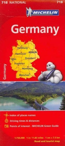 Germany Road and Tourist Map