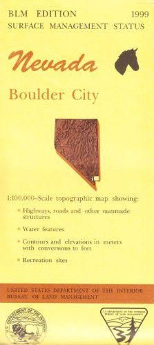 Nevada: Boulder City : 1:100,000-scale topographic map : 30 X 60 minute series (topographic) (Surface management status)