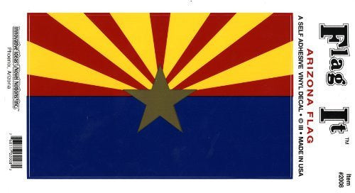 us topo - Arizona Flag: A Self Adhesive Vinyl Decal - Wide World Maps & MORE! - Automotive Parts and Accessories - Flag It - Wide World Maps & MORE!