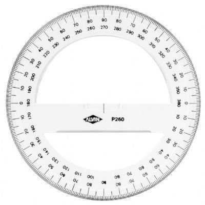 "us topo - Alvin 6"" Circular Protractor - Wide World Maps & MORE! - Home Improvement - Alvin - Wide World Maps & MORE!"