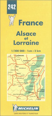 Michelin Alsace and Lorraine, France Map No. 242 (Michelin Maps & Atlases)