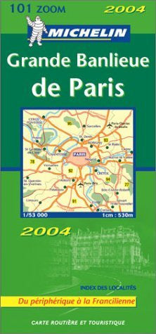 Michelin France, Outskirts of Paris Map 1:53K No. 101