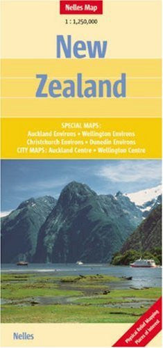 New Zealand Map by Nelles  (English, French and German Edition)