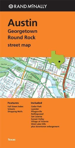 Rand Mcnally Folded Map: Austin, Georgetown & Round Rock Street Map