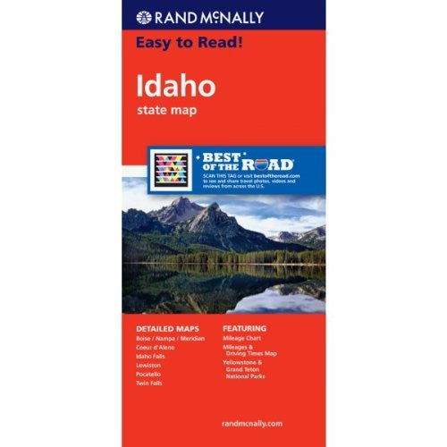 Rand McNally Easy To Read: Idaho State Map