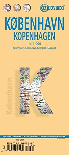 Laminated Kopenhagen Map by Borch (English Edition) - Wide World Maps & MORE! - Book - Borch - Wide World Maps & MORE!