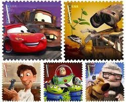 Send a Hello - Lightning McQuee, Ratatouille, Buzz Lightyear Sheet of 20 Stamps