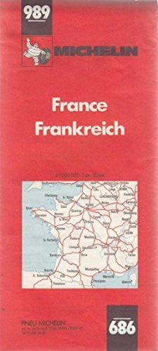 Mapa Michelin 989: France/Frankreich - France/Francia - Wide World Maps & MORE! - Book - Wide World Maps & MORE! - Wide World Maps & MORE!