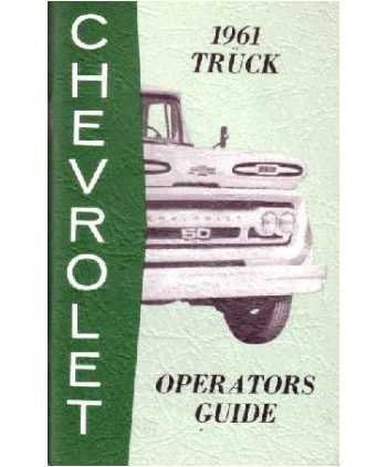 us topo - 1961 Chevrolet Truck Owners Manual User Guide Reference Operator Book Fuses - Wide World Maps & MORE! - Automotive Parts and Accessories - General Motors - Wide World Maps & MORE!