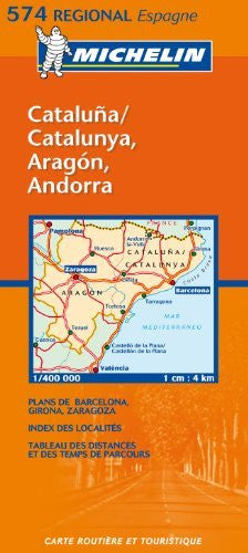 Michelin Map Spain North East: Aragon, Cataluna  574 (Maps/Regional (Michelin))
