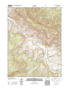 Squaw Creek, Colorado 7.5' Paper, Non-Laminated