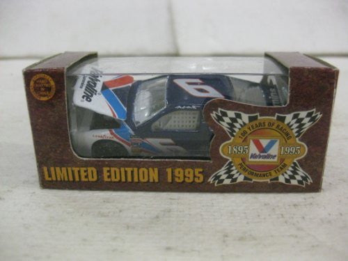 Limited Edition 1995 Mark Martin #6 Valvoline Ford Thunderbird Nascar In White & Blue Diecast 1:64 Scale By Action