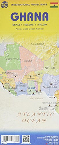 us topo - Ghana Travel Map Reference - Wide World Maps & MORE! - Book - Wide World Maps & MORE! - Wide World Maps & MORE!