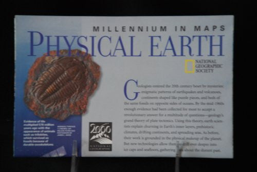 National Geographic Folding Map Millennium in Maps 'Physical Earth', May 1998