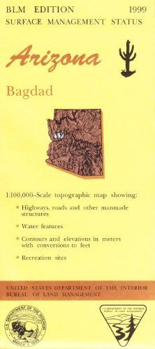 Arizona: Bagdad : 1:100,000-scale topographic map : 30 x 60 minute series (topographic) (Surface management status)