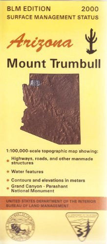 us topo - Arizona: Mount Trumbull : 1:100,000-scale topographic map : 30 X 60 minute series (topographic) (Surface management status) - Wide World Maps & MORE! - Book - Wide World Maps & MORE! - Wide World Maps & MORE!