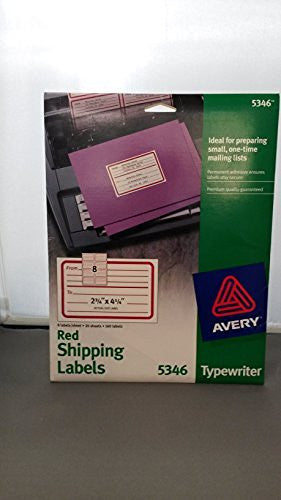 us topo - Avery 5346 Red Shipping Lable - Wide World Maps & MORE! - CE - Avery - Wide World Maps & MORE!