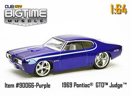 Jada Dub City 1:64 BIGTIME MUSCLE 1969 Pontiac GTO Judge