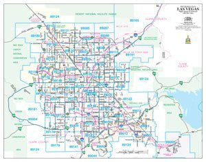 Metropolitan Las Vegas Major Streets & Freeways with ZIP Codes