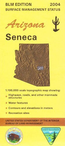 us topo - Seneca Arizona 1:100,000 Scale Topo Map BLM Surface Management 30x60Minute Quad - Wide World Maps & MORE! - Book - Wide World Maps & MORE! - Wide World Maps & MORE!