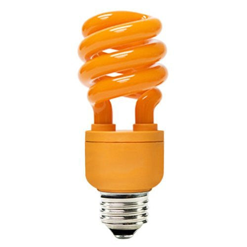 PLT FE153-13SO-VP1 - 13 Watt CFL Light Bulb - Compact Fluorescent - 60 Watt Equal - Orange Party Light -