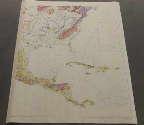 Preliminary Metallogenic Map of North America (Southeast Quadrant) (GIA0014-3T)