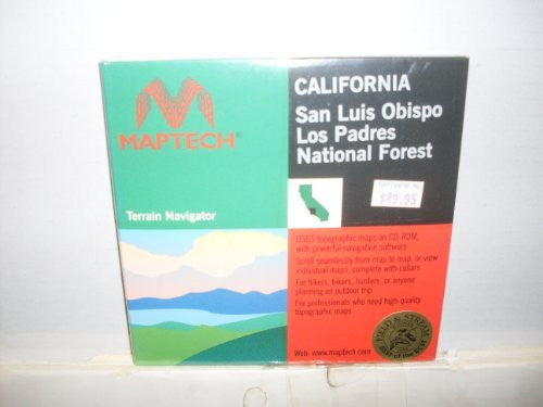 us topo - San Luis Obispo Los Padres National Forest (California) - Wide World Maps & MORE! - Book - Wide World Maps & MORE! - Wide World Maps & MORE!