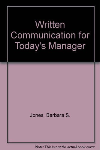 Written Communication for Today's Manager - Wide World Maps & MORE! - Book - Wide World Maps & MORE! - Wide World Maps & MORE!