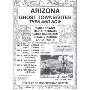 Arizona, Ghost Towns, 6 Map Set Then & Now