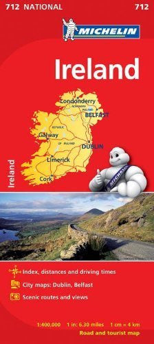 Ireland Road and Tourist Map