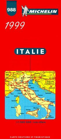 Michelin Map of Italy (Michelin Map, 988)