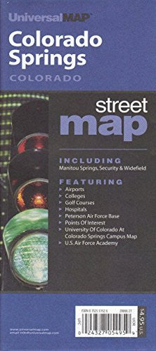 Colorado Springs, Colorado Street Map