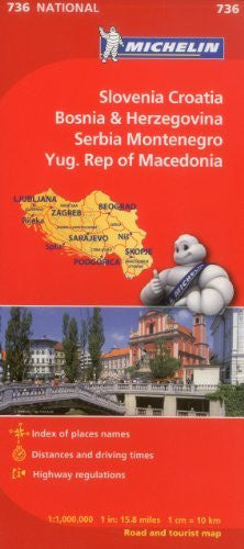 us topo - Michelin Slovenia Croatia Bosnia-Herzegovina Yugoslavia Former Yug. of Macedonia Map 736 (Maps/Country (Michelin)) - Wide World Maps & MORE! - Book - Michelin Travel & Lifestyle (COR) - Wide World Maps & MORE!