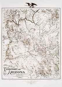 Official Map of the Territory of Arizona 1880 Enlarged Dry Erase Ready-to-Hang