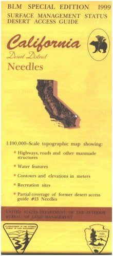 us topo - California Desert District: Needles : 30 X 60 minute series (topographic) (Desert access guide) - Wide World Maps & MORE! - Book - Wide World Maps & MORE! - Wide World Maps & MORE!
