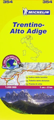 us topo - Michelin Map Italy: Trentino-Alto Adige 354 (Maps/Local (Michelin)) (Italian Edition) - Wide World Maps & MORE! - Book - Michelin Travel Publications (COR) - Wide World Maps & MORE!