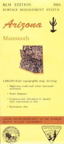 us topo - Arizona, Mammoth: 1:100,000-scale topographic map : 30 X 60 minute series (topographic) (Surface management status) - Wide World Maps & MORE! - Book - Wide World Maps & MORE! - Wide World Maps & MORE!
