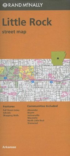 us topo - Folded Map Little Rock Streets, AR - Wide World Maps & MORE! - Book - Wide World Maps & MORE! - Wide World Maps & MORE!