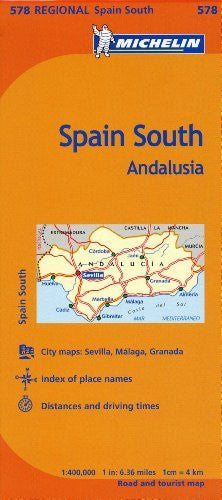 us topo - Michelin Spain: Andalucia Map 578 (Maps/Regional (Michelin)) (Multilingual Edition) - Wide World Maps & MORE! - Book - Michelin Travel & Lifestyle (COR) - Wide World Maps & MORE!