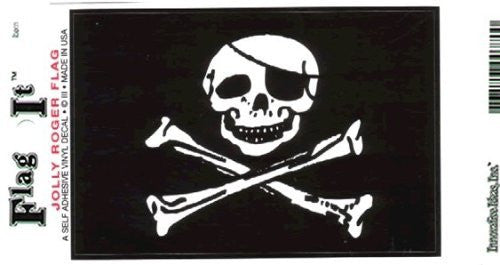 Jolly Roger flag decal for auto, truck or boat