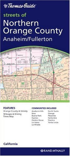 Orange County, Northern/Anaheim/Fullerton (Rand McNally Folded Map: Cities) - Wide World Maps & MORE! - Book - Rand McNally - Wide World Maps & MORE!